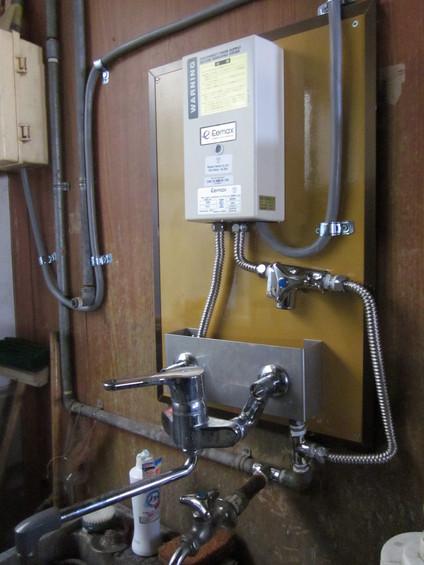 【設備導入】 電機式温水器を設置