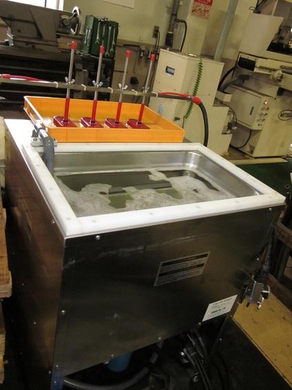 超音波洗浄機導入しました。